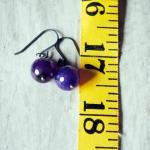 Grape Purple Earrings Agate..