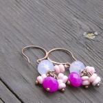 Lavender Pink Earrings Rhodochrosit..