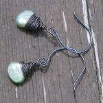 Green Kyanite Earrings Oxid..